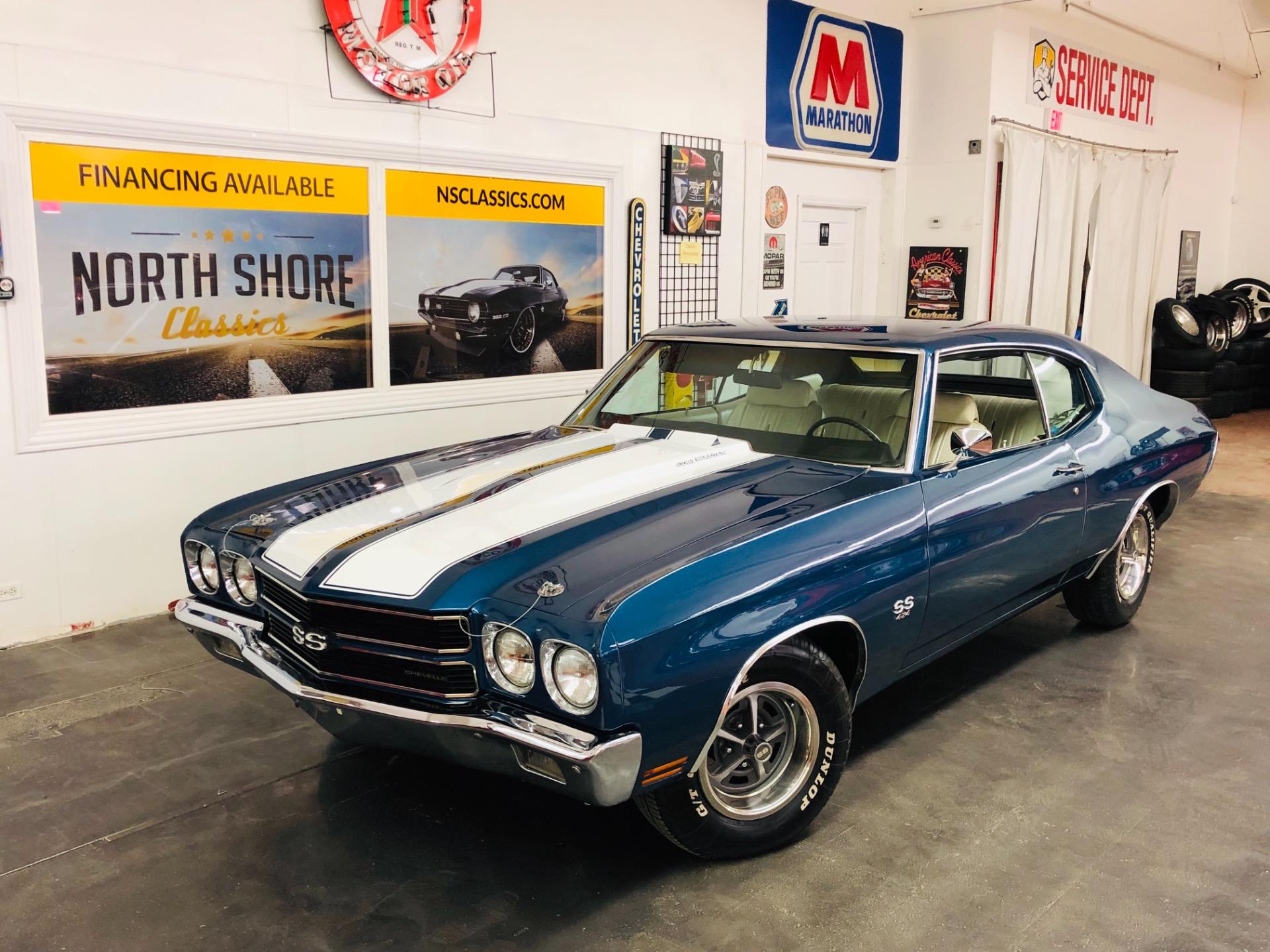 Used 1970 Chevrolet Chevelle Fathom Blue Big Block-VIDEO | Mundelein, IL