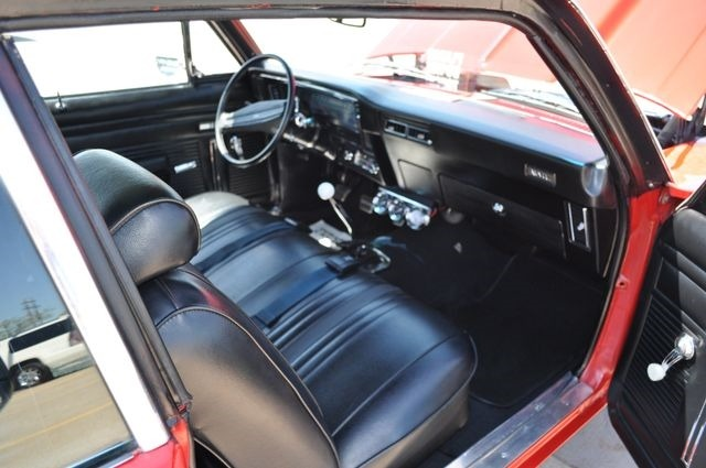 Used 1972 Chevrolet Nova -AC-SHARP SLICK RED PAINT-SOLID HURST 4 SPD-MUSCLE RELIABLE- | Mundelein, IL