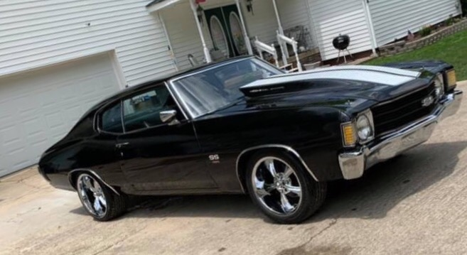 Used 1972 Chevrolet Chevelle -BIG BLOCK-4 SPEED-PURE MUSCLE-BLACK ON BLACK- | Mundelein, IL