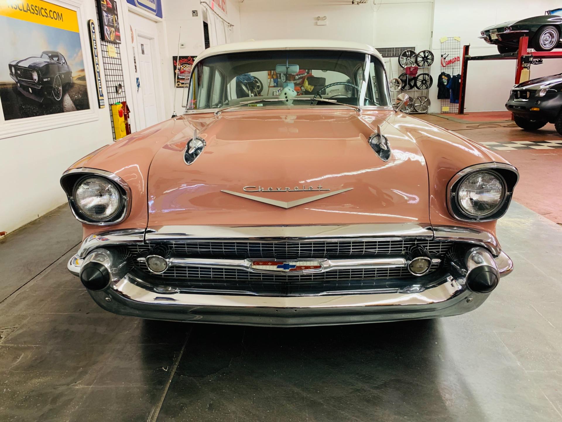 Used 1957 Chevrolet Bel Air/150/210 -4 DOOR SEDAN - CANYON CORAL - GREAT ORIGINAL CONDITION   Mundelein, IL