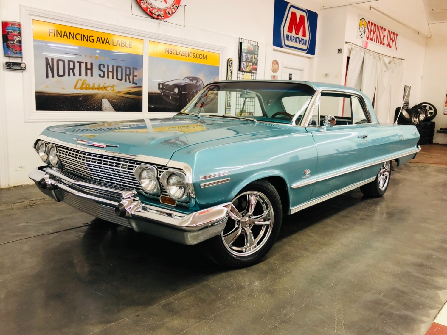 Used 1963 Chevrolet Impala -SS TRIM-BIG BLOCK 454-TH400 TRANS -SOUTHERN CAR-SEE VIDEO | Mundelein, IL