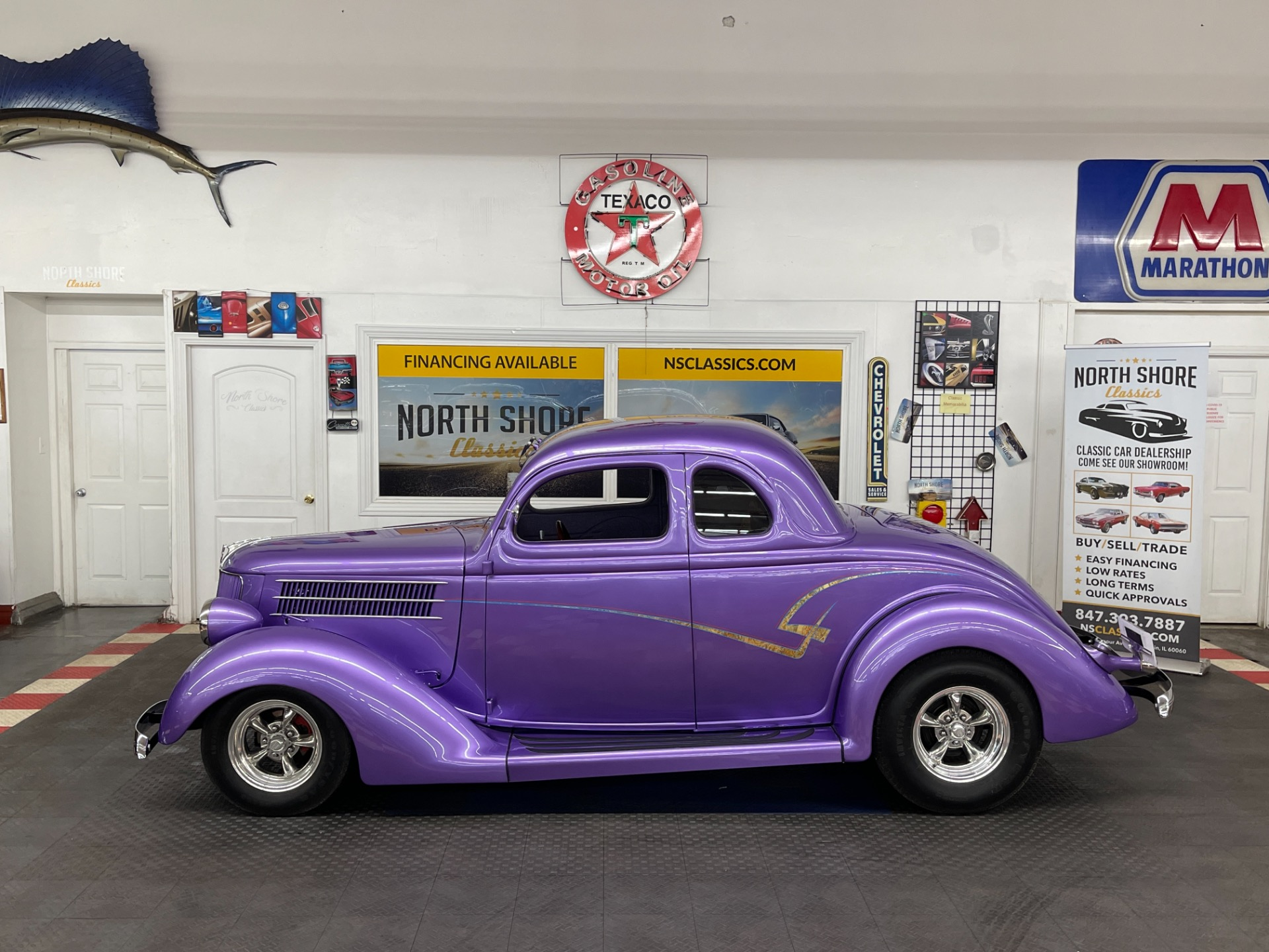 Used 1936 Ford Hot Rod / Street Rod - QUALITY BUILD - STEEL BODY COUPE - A/C - SEE VIDEO | Mundelein, IL