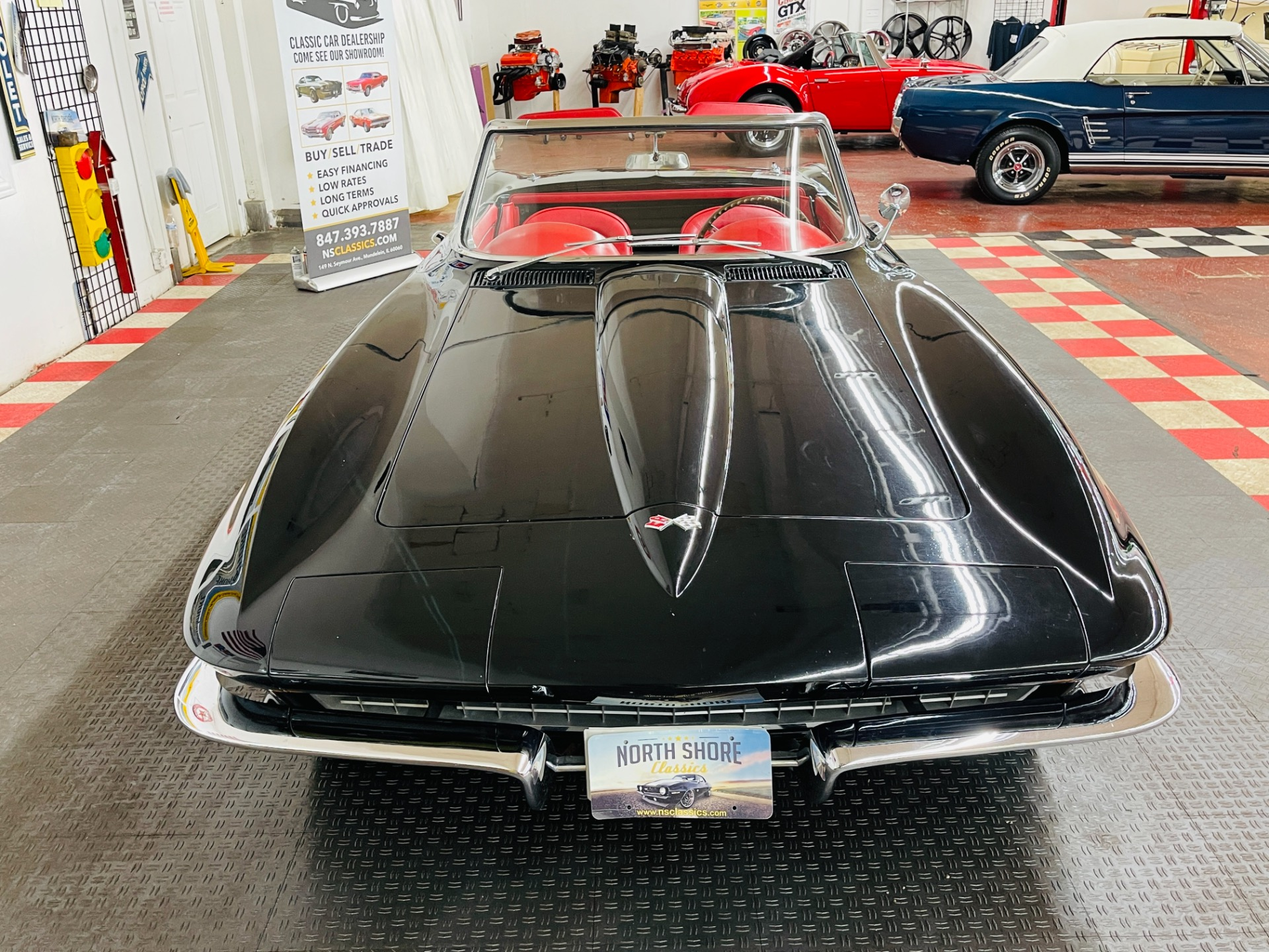 Used 1967 Chevrolet Corvette - CONVERTIBLE - REAL BLACK/RED COLOR COMBO - TANK STICKER - SEE VIDEO   Mundelein, IL