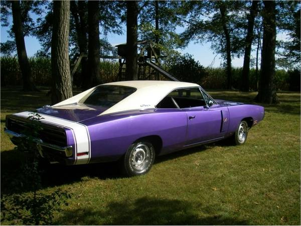 1970 Dodge Charger Rt Hemi Plum Crazy See Videos Stock