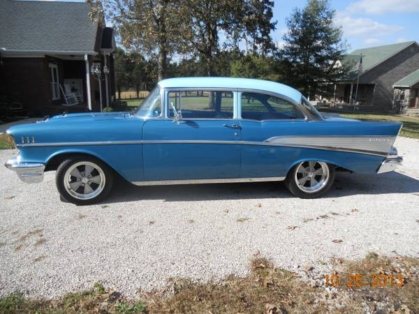 Used 1957 Chevrolet Bel Air Harbor Blue-Nice Driver WITH AC FROM KENTUCKY | Mundelein, IL