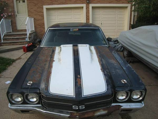 Used 1970 Chevrolet Chevelle SS-GM of Canada Documented-PROJECT CAR | Mundelein, IL
